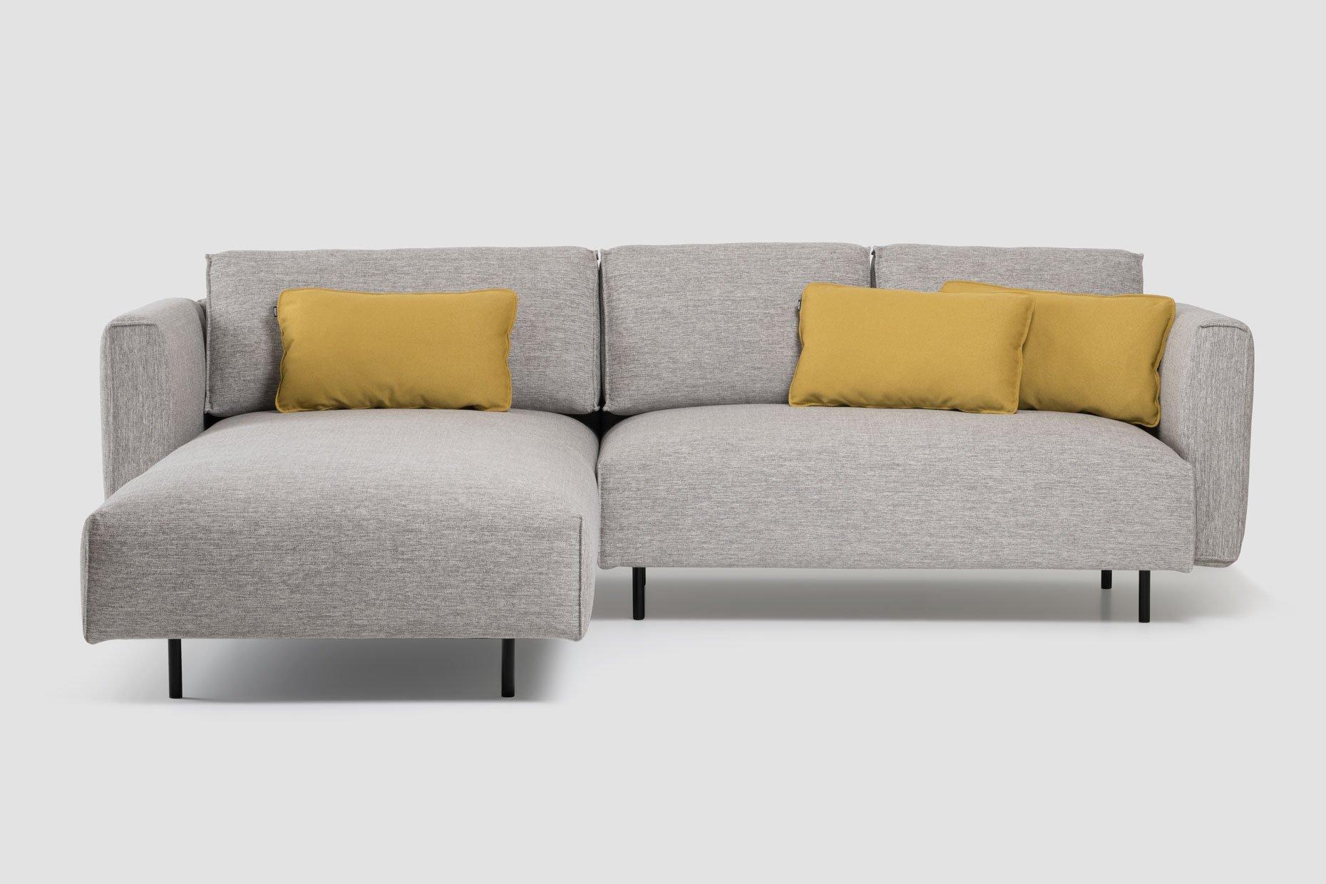 Kotna sedežna garnitura Kauch Oto v sivi barvi
